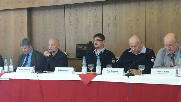 """Podium """"Sicherheit in der Oder-Neiße-Region: Kooperation bei Feuerwehr, Polizei und Justiz, Rettungsdienst und Katastrophenschutz"""""""