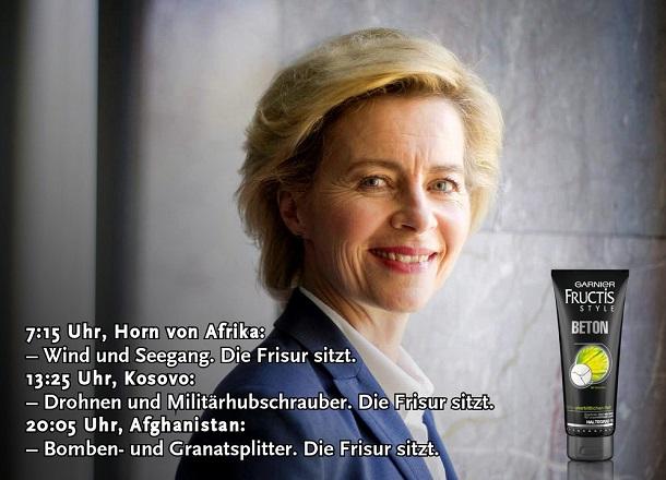 Verteidigungsministerin Ursula Von Der Leyen – Die Frisur Sitzt