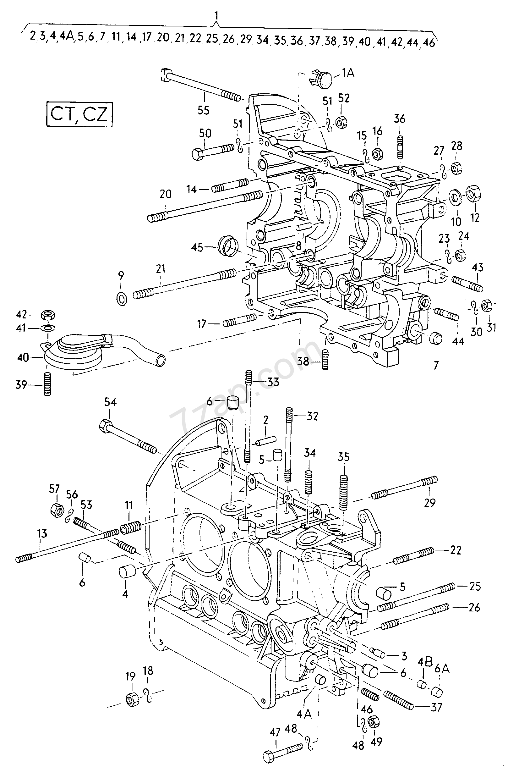 mounting parts for engine and transmission Vanagon (VA