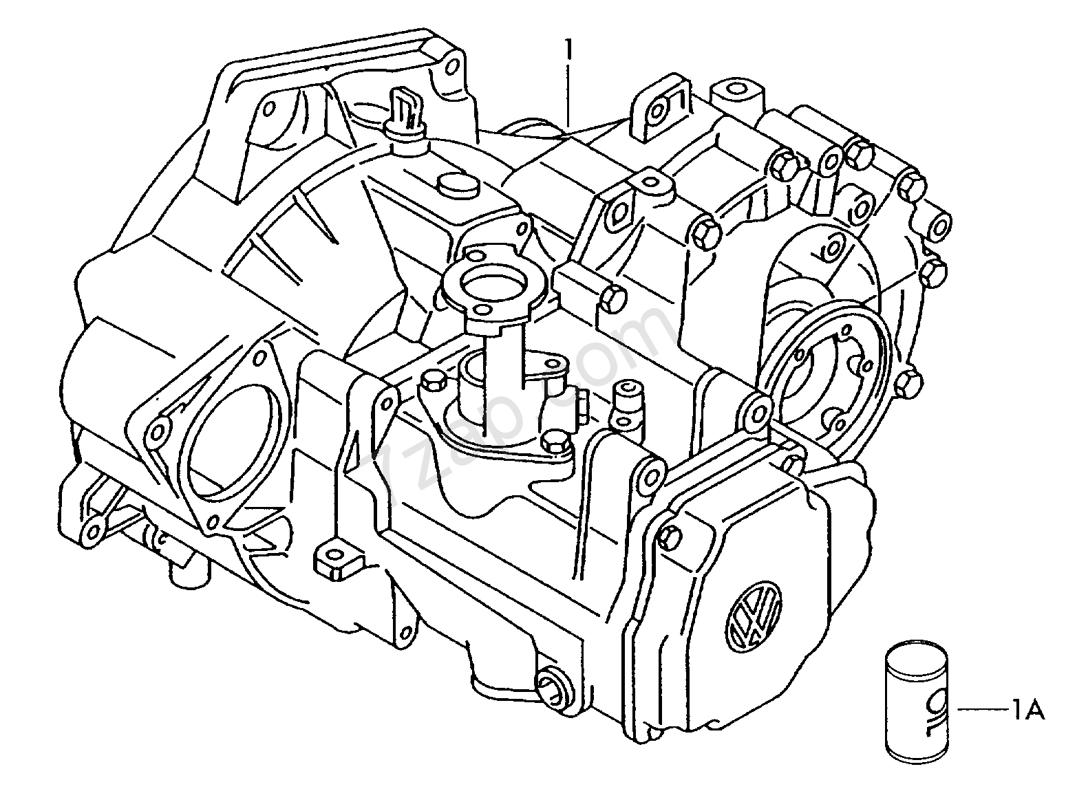 gearbox, complete; 5-speed manual transmission Corrado