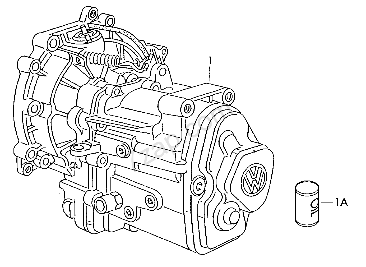gearbox, complete; 5-speed manual transmission Polo/Derby