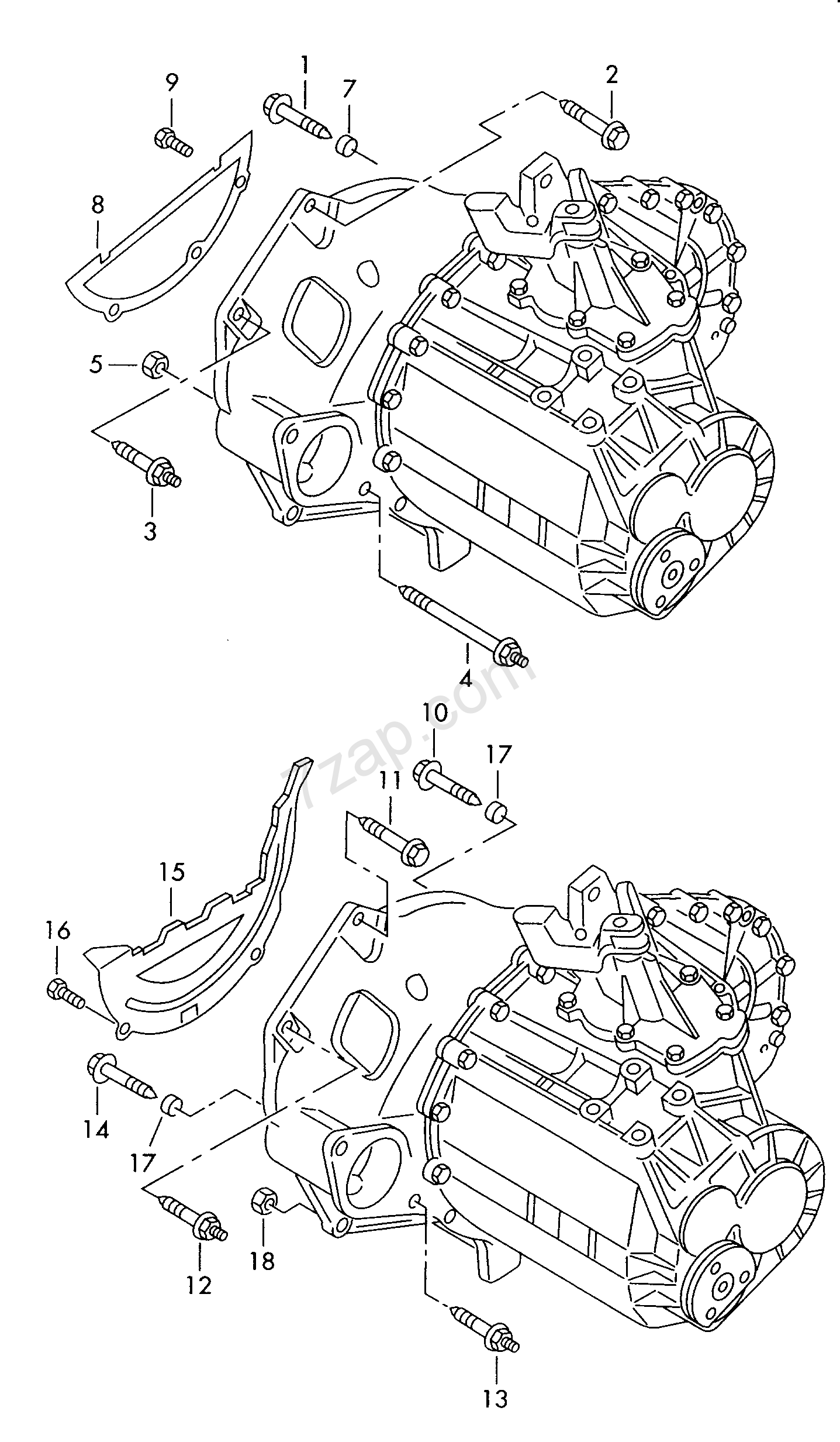 mounting parts for engine and transmission; for 5