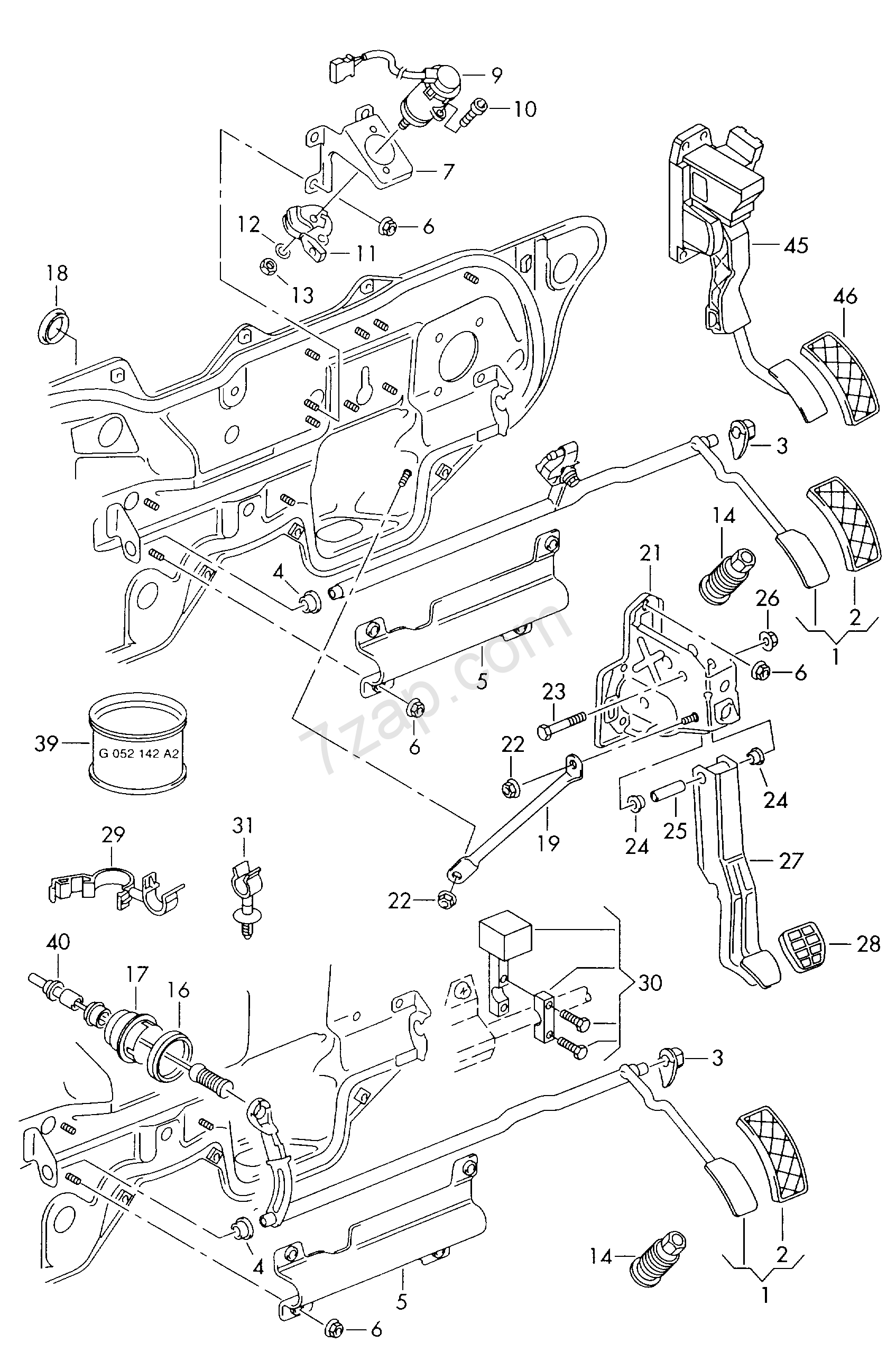 accelerator pedal with electronic module Golf/Variant