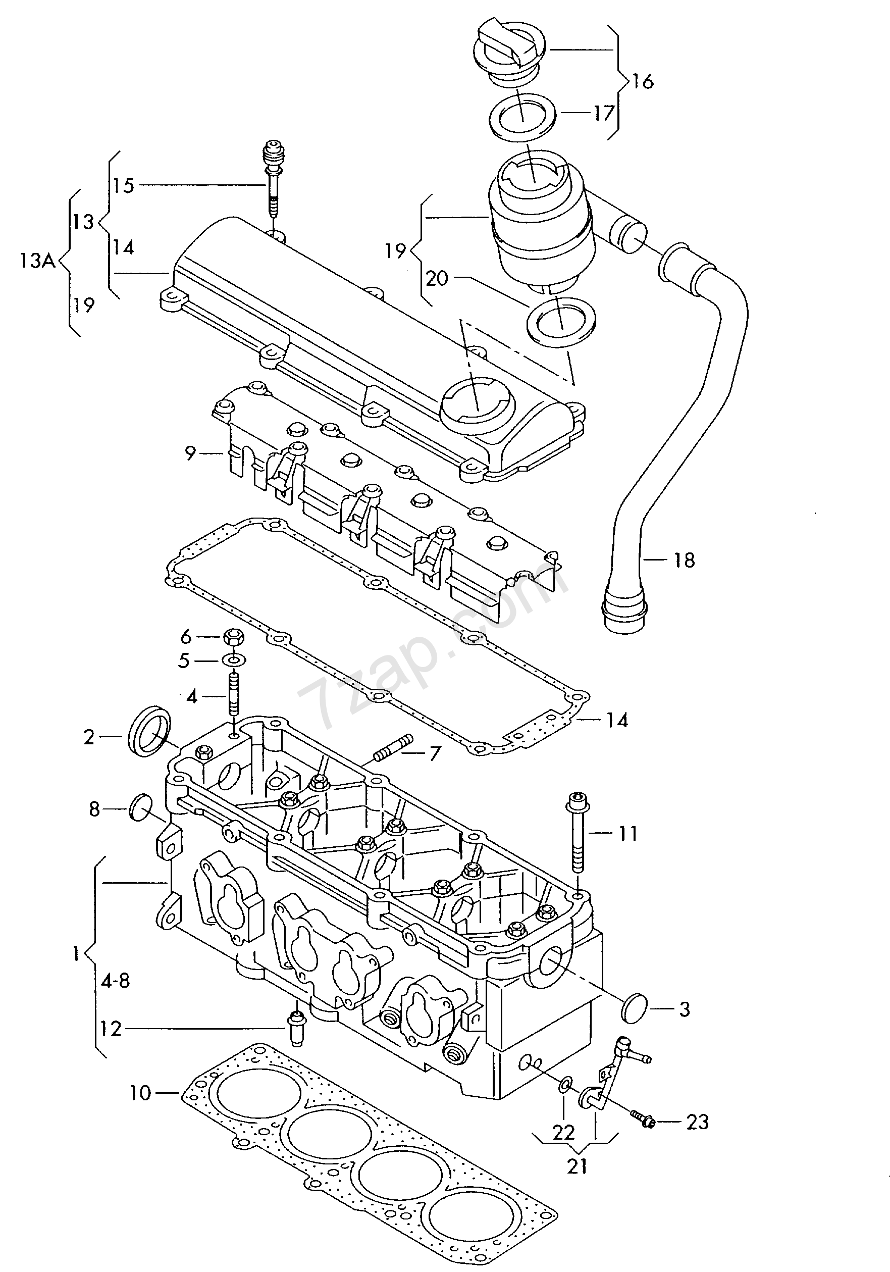 cylinder head; cylinder head cover; covering Polo Classic