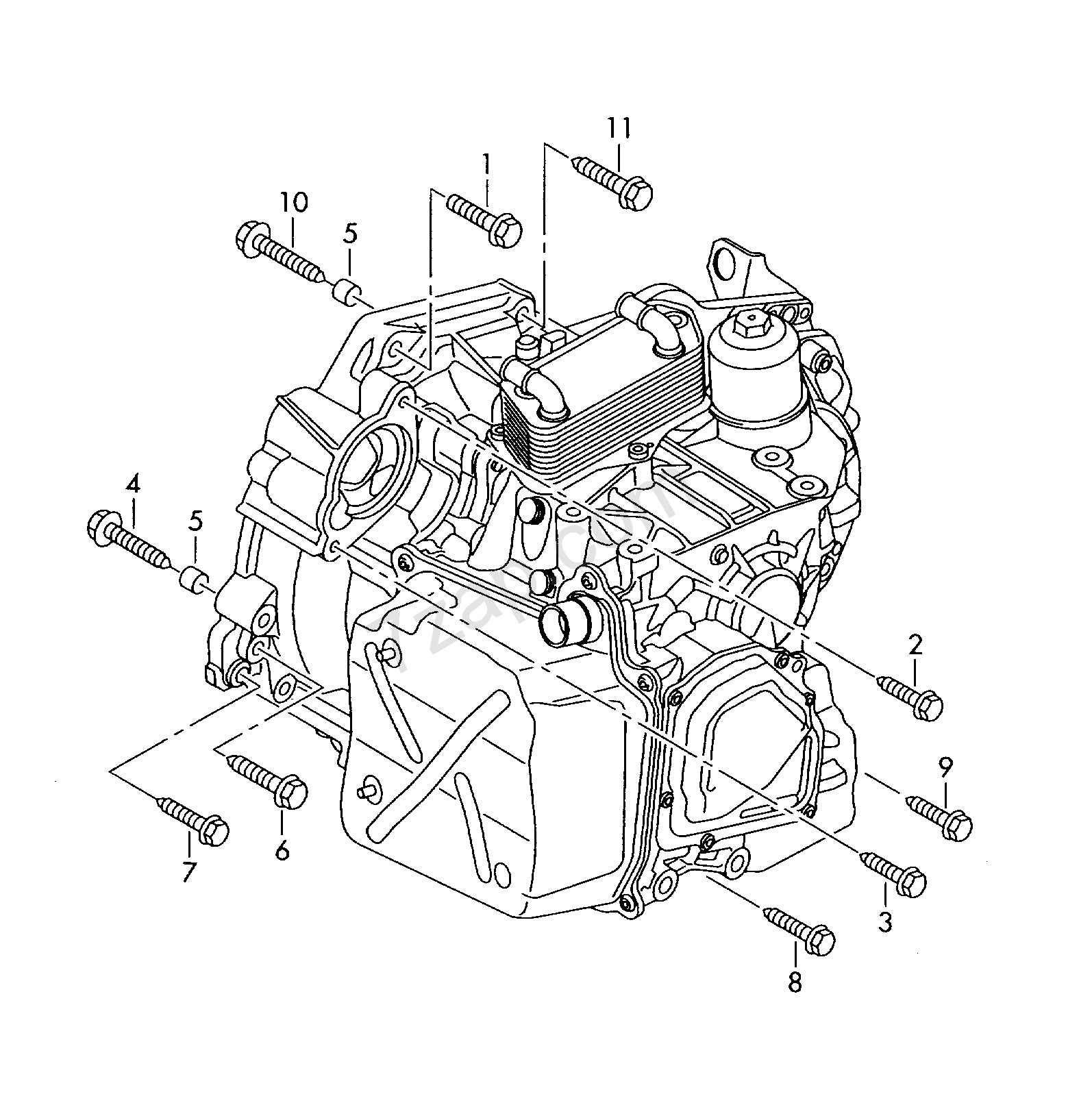 mounting parts for engine and transmission; 6-spe