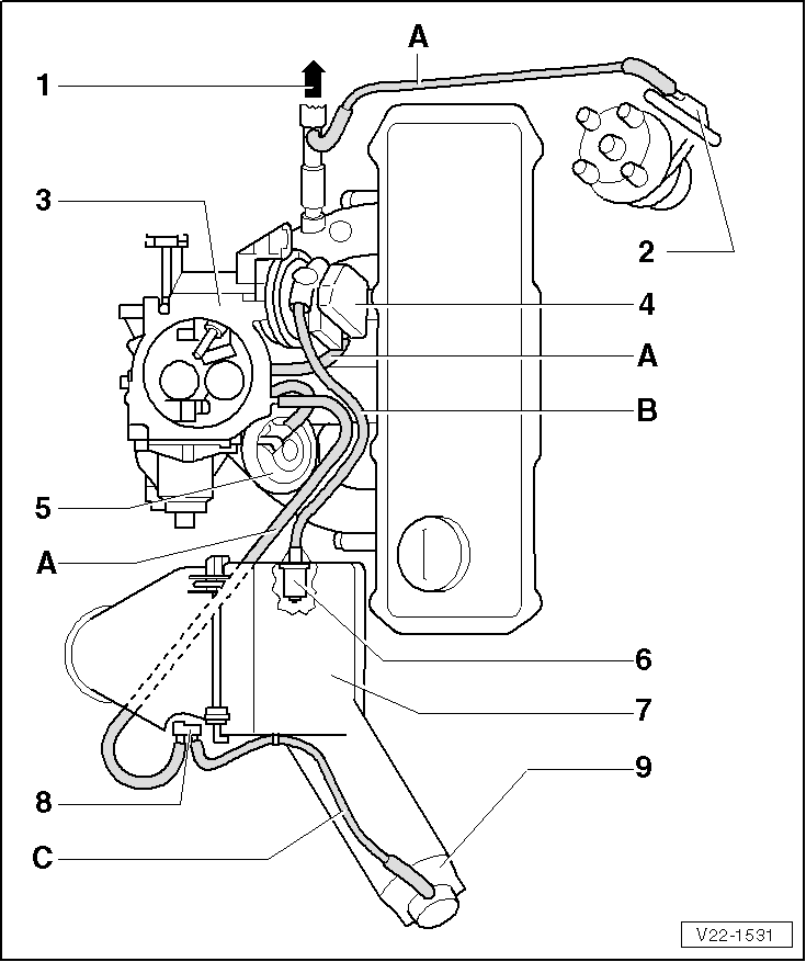 Vacuum Hose: Vw Carburetor Vacuum Hose Diagram
