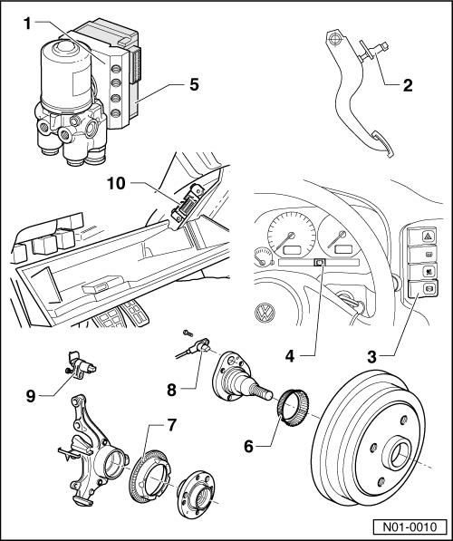 Volkswagen Workshop Manuals > Polo Mk3 > Running gear self