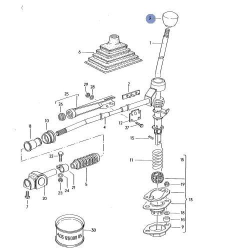 GAŁKA ZMIANY BIEGÓW VW POLO GT Volkswagen Classic Parts