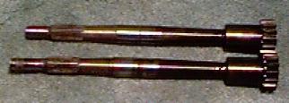 Input shafts.