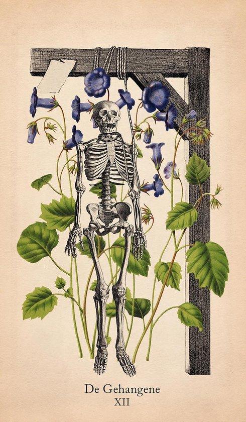 Klassieke anatomie tarot kaart 'De gehangene'