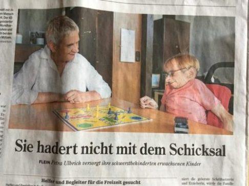Bild aus der Zeitung