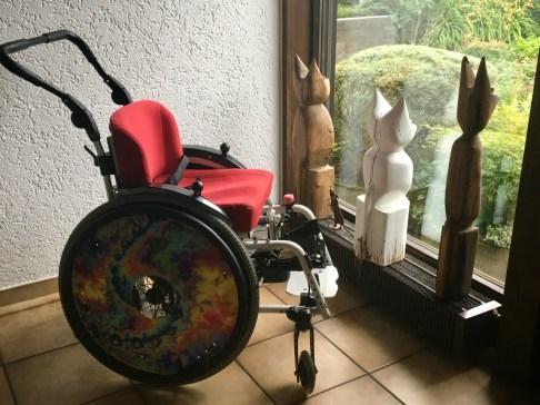 Wiebkes Rollstuhl