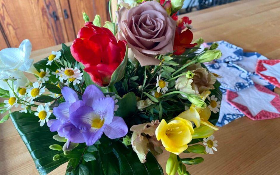 ich habe mir Blumen gekauft