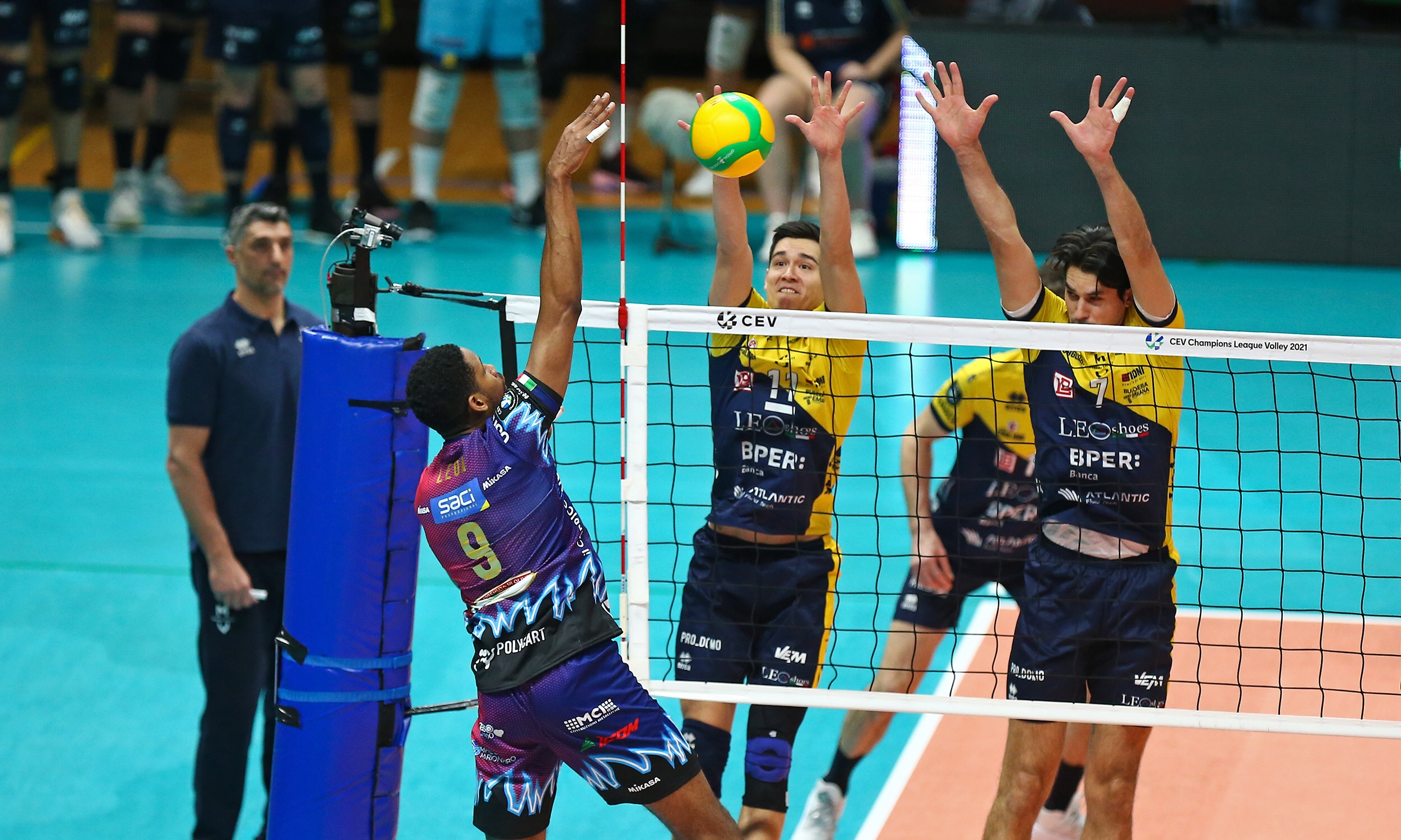 Champions League: a perfect Modena sweep Perugia at playoff opening