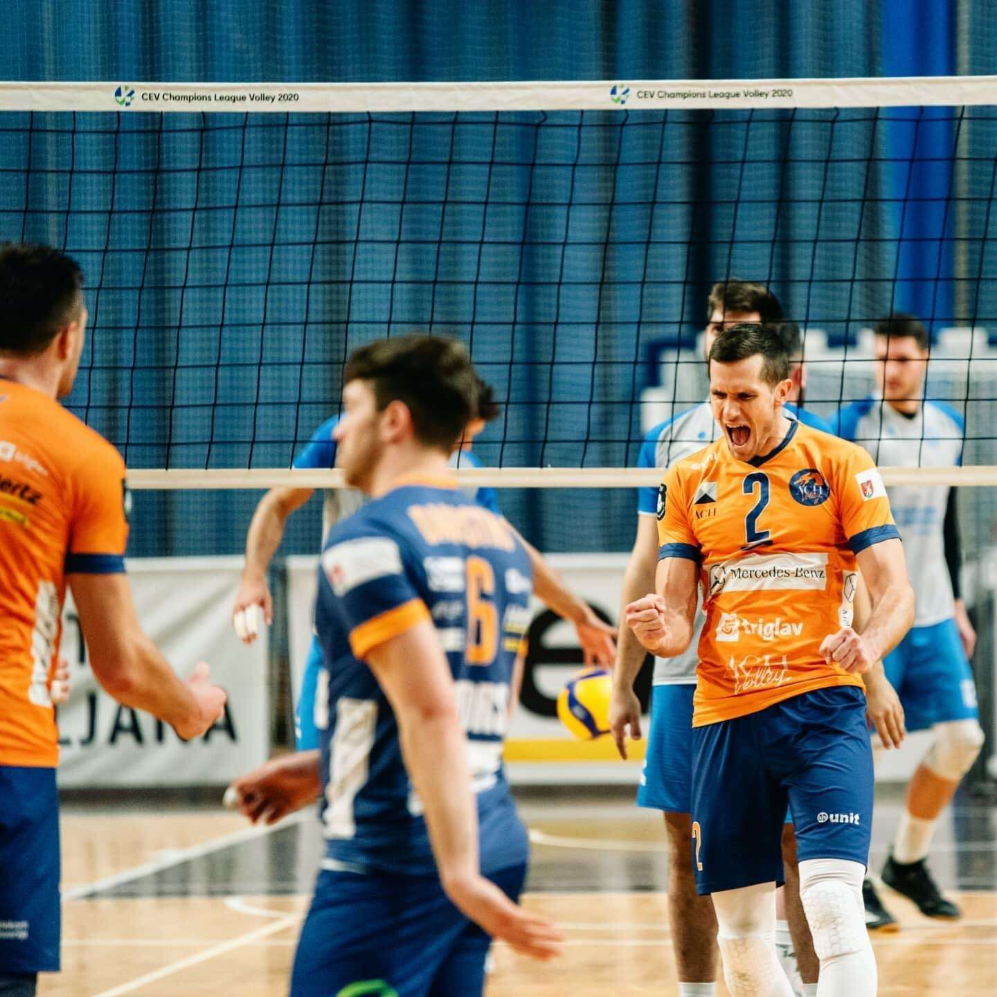 Mevza League: Defending Champions ACH Volley Ljubljana secured first place a match in advance