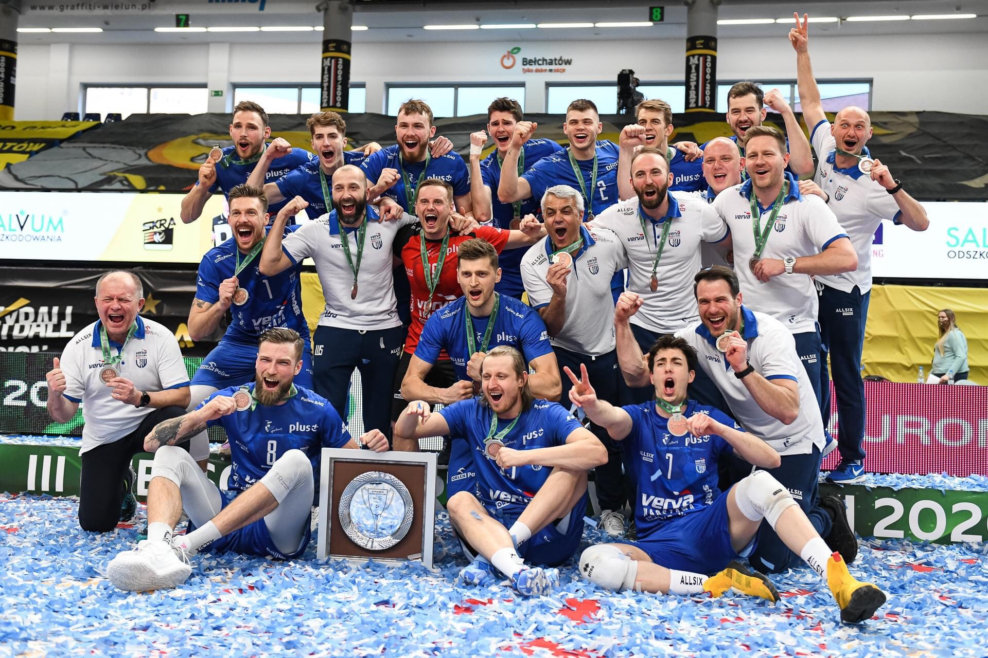 Poland: 3rd place and a place in Champions League for VERVA Warzawa ORLEN Paliwa