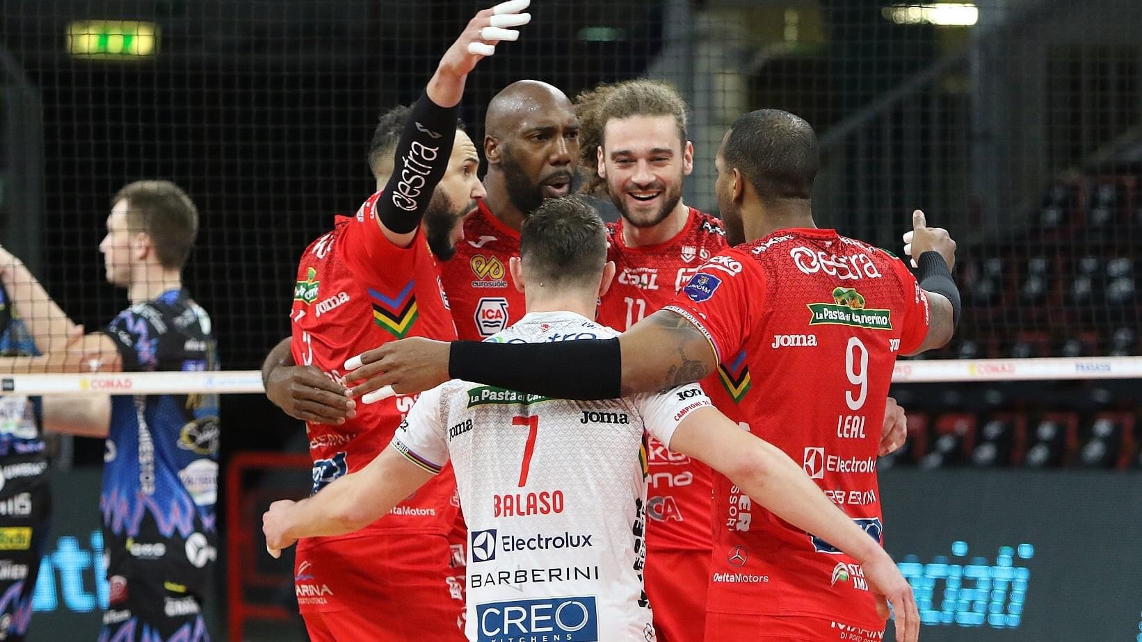 Italy:  There was only one team on court in Final Game 3 – Lube destroy Perugia
