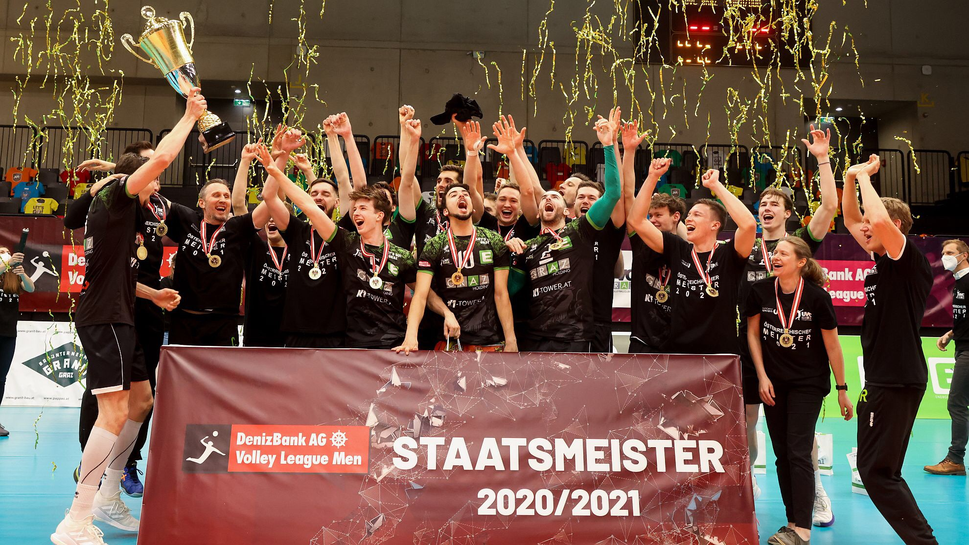 Austria: UVC Graz win historic title! Ried and Klagenfurt ok for 5th and 7th place