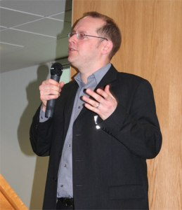 John Ramsey speaking at AVM's launch in 2007