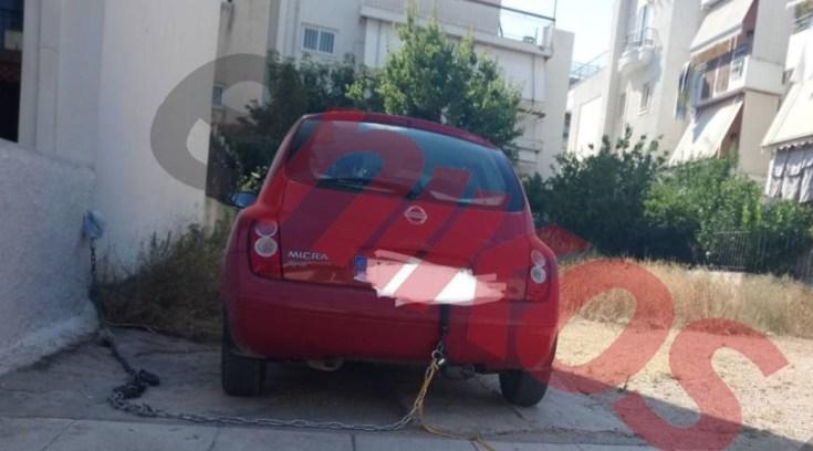 Έδεσε το αυτοκίνητο στο τοίχο για να μη του το κλέψουν!
