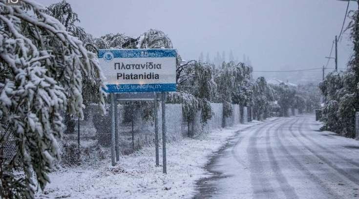 ΠΡΟΣΟΧΗ: Νέα ισχυρή χιονόπτωση στη πόλη του Βόλου- ΔΕΙΤΕ αναλυτικά!