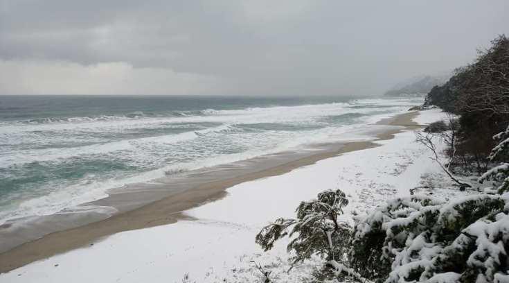 Θάλασσα, άμμος χιόνι-Μαγικές εικόνες από το Χορευτό!