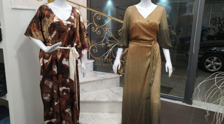 Νέες παραλαβές! Μεγάλα μεγέθη αμπιγιέ φορεμάτων-ΔΕΙΤΕ τα φορεμένα!