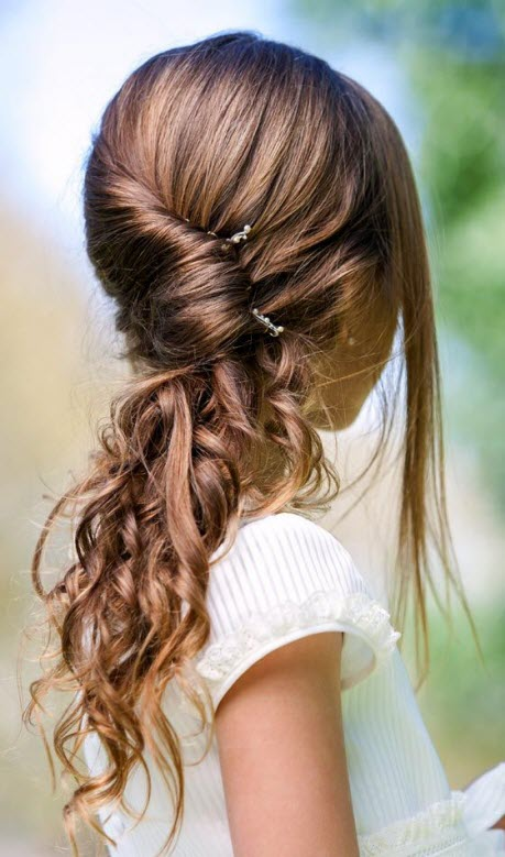 Stock Foto Hairstyles for girls