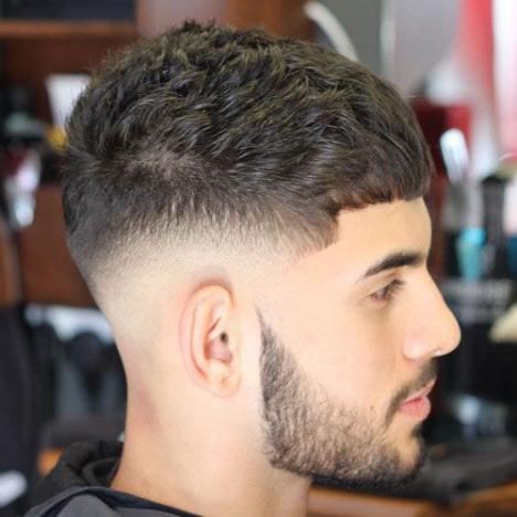 Photo of men's haircuts semi-box