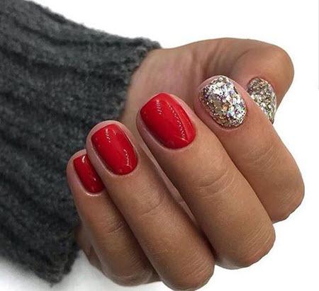 Manicure de inverno vermelho 2021