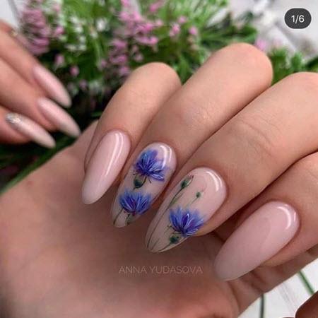 Фото маникюра с цветами