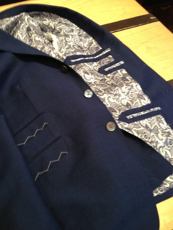 Bespoke Blue Mohair Suit