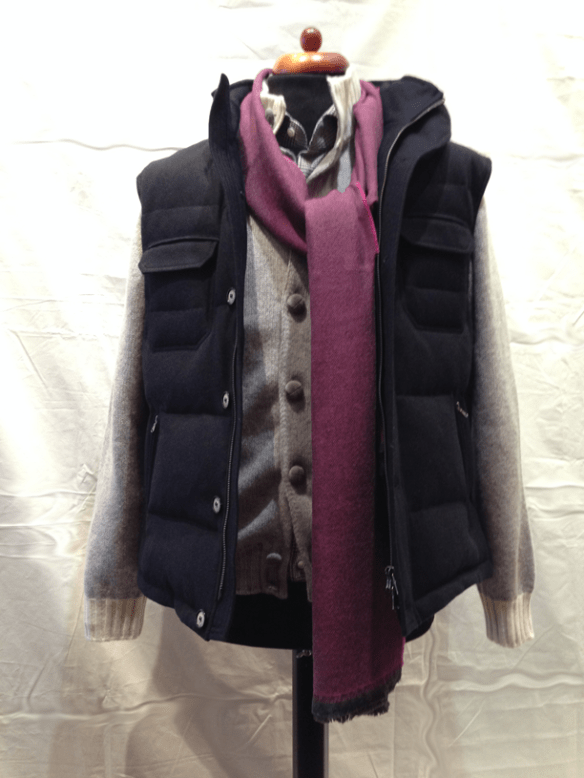 Navy Cashmere Gilet - Also available in Light Grey