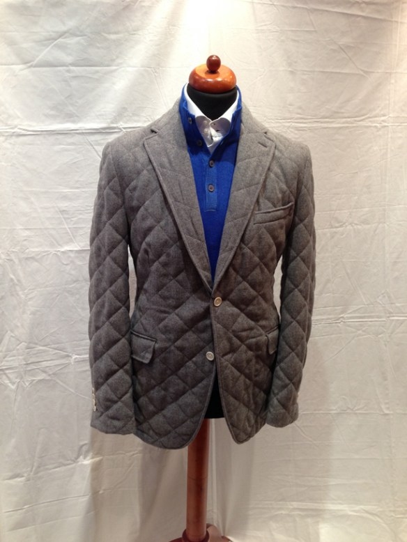 Light Grey Quilted Jacket