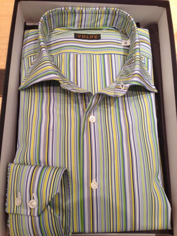 Lemon and Lime Striped Stretch Cotton