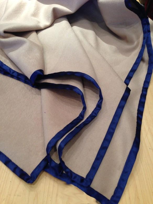 Cashmere Reversible Blanket - Royal Blue