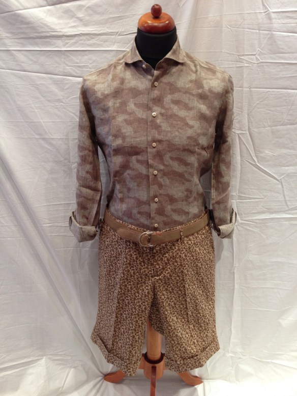 Brown Paisley Short