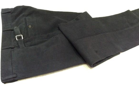 Navy Cotton Moleskin