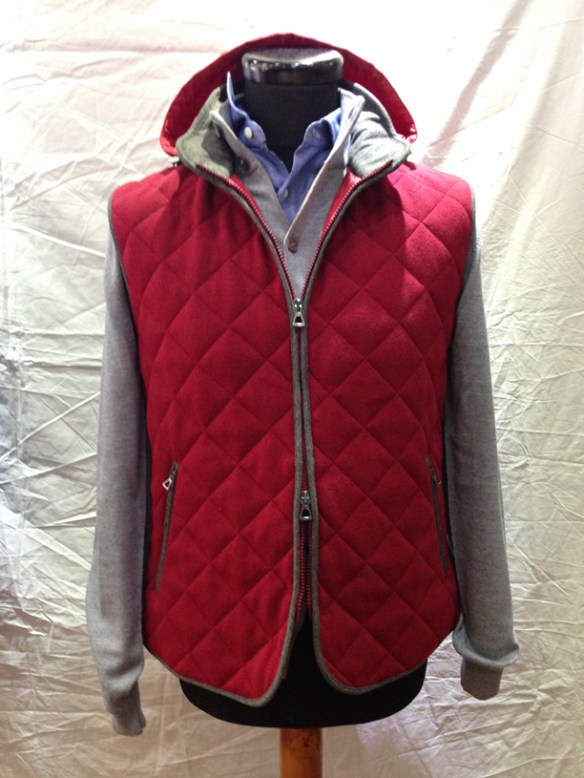 Red Gilet -With removable hood