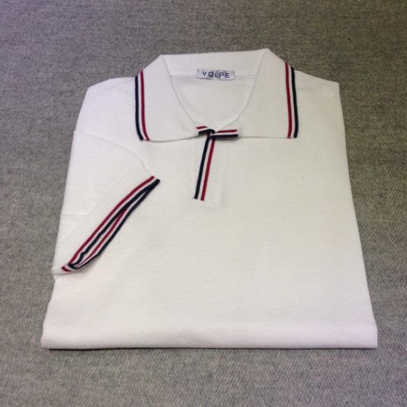 White cotton t-shirt with trim