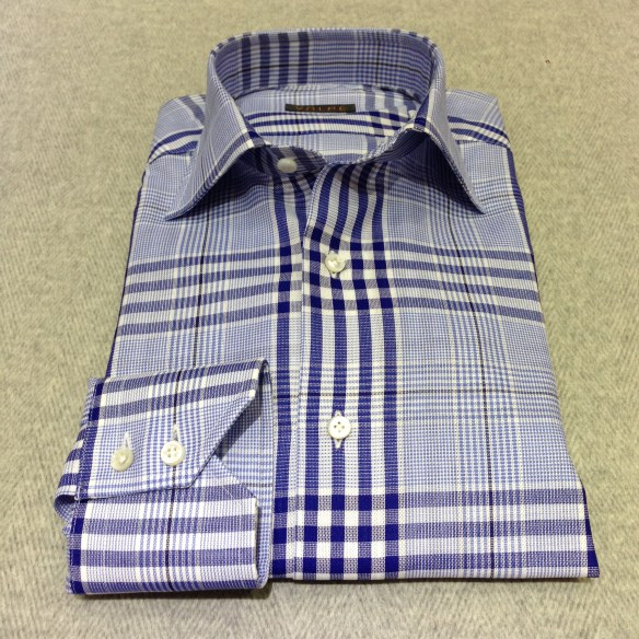 Blue large Prince of Wales cotton check (100% cotton)
