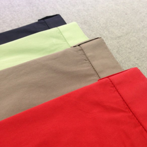 Navy Blue, Mint Green, Stone and Red Washable stretch cotton trousers (97% cotton / 3 % lycra)