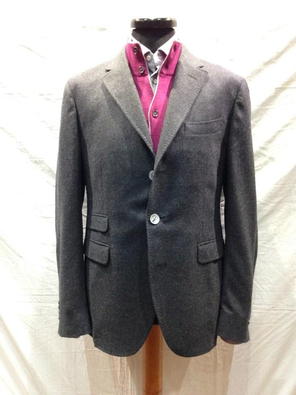 Grey Cashmere Unlined Jacket