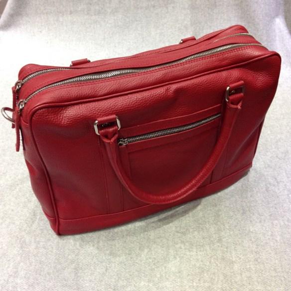 Red Calfskin Briefcase