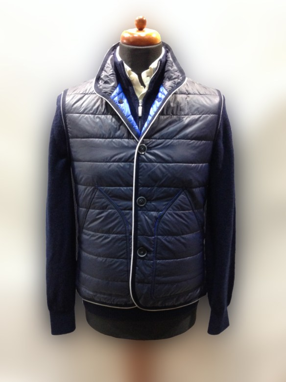 Navy Blue Nylon Micro Down Filled Gilet