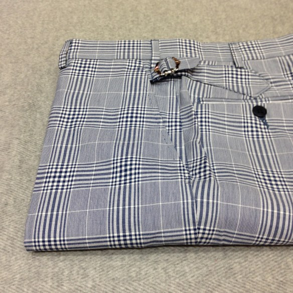 Cotton Checked Trousers £165