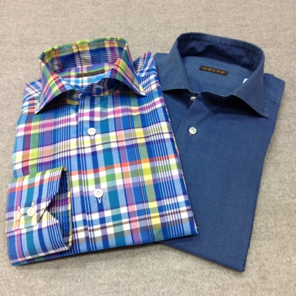 Bold Check and Light Denim Shirt