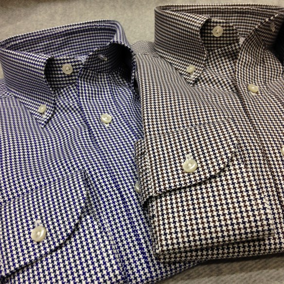 Blue and Navy & Blue and Brown Dogtooth pattern