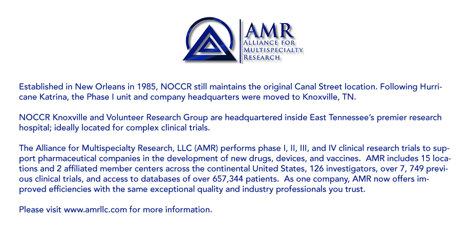 Welcome - NOCCR Knoxville and Volunteer Research Group