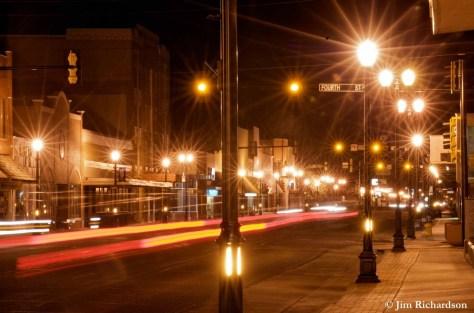 Glare on Main Street